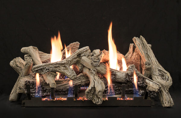 Driftwood Burncrete VF log set