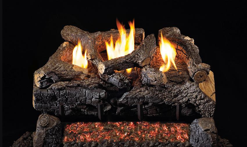 Evening Fyre Charred VF gas logs