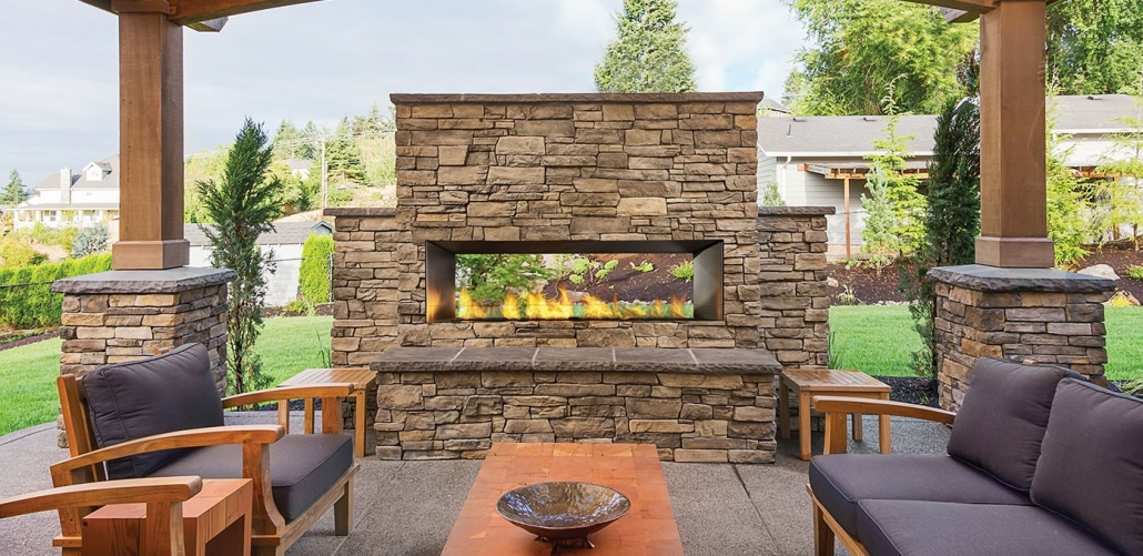 HZO60 Horizon outdoor fireplace