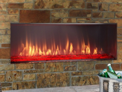 Lanai Linear fireplace