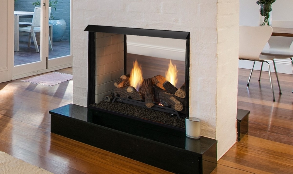 Lo-rider VF see-thru built in fireplace