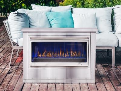 Montigo Mahana 42 outdoor fireplace