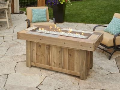 Vintage gas fire pit table